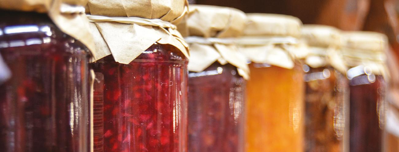 Marmellate, confetture, gelatine, canditure e frutta spadellata